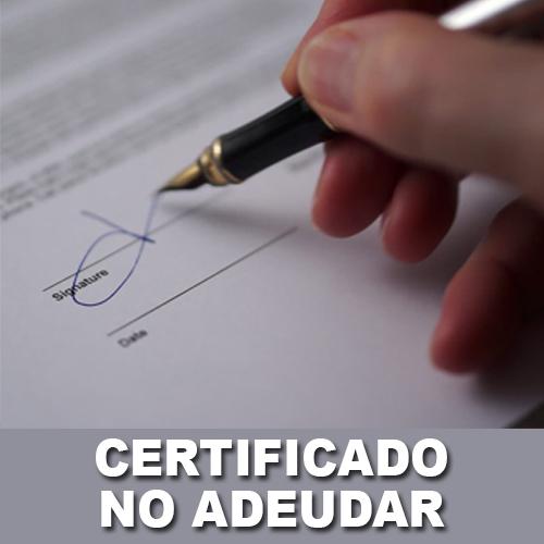 Certificado de No Adeudar