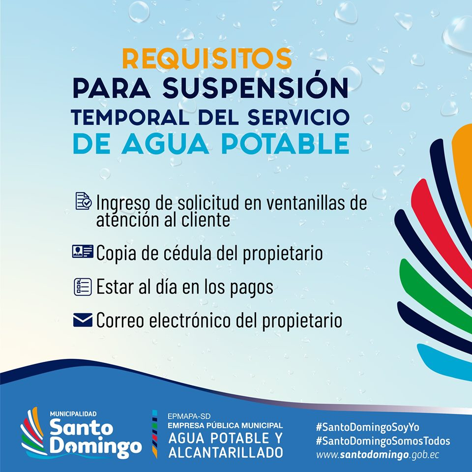 REQUISITOS PARA SOLICITUD DE ACOMETIDAS DE AGUA POTABLE
